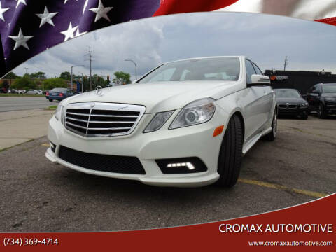 2011 Mercedes-Benz E-Class for sale at Cromax Automotive in Ann Arbor MI