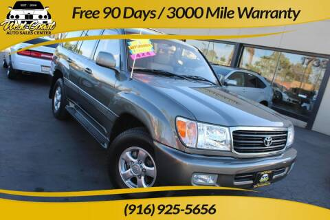 2001 Toyota Land Cruiser for sale at West Coast Auto Sales Center in Sacramento CA
