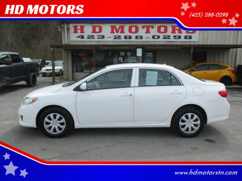 2010 Toyota Corolla for sale at HD MOTORS in Kingsport TN