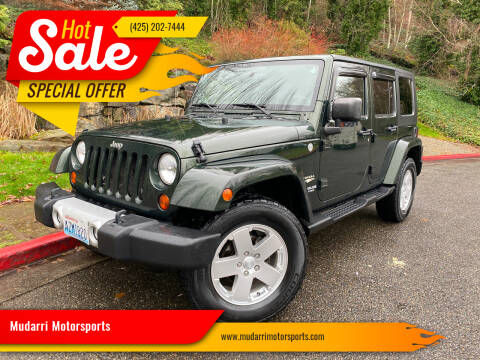 2010 Jeep Wrangler Unlimited for sale at Mudarri Motorsports in Kirkland WA