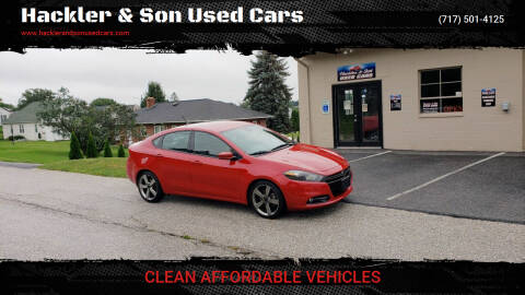 2014 Dodge Dart for sale at Hackler & Son Used Cars in Red Lion PA