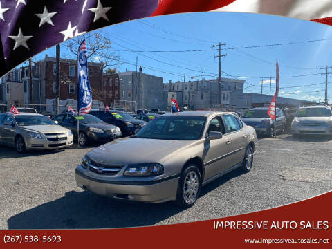 2003 Chevrolet Impala for sale at Impressive Auto Sales in Philadelphia PA