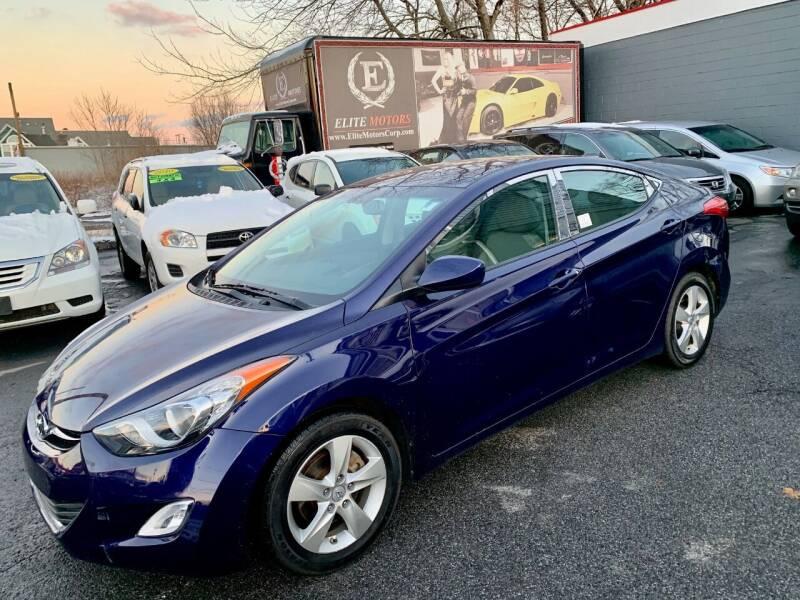 2012 Hyundai Elantra for sale at ELITE MOTORS in West Haven CT
