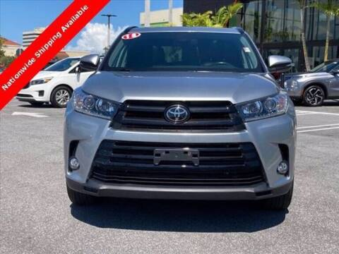 2018 Toyota Highlander for sale at LAND & SEA BROKERS INC in Pompano Beach FL