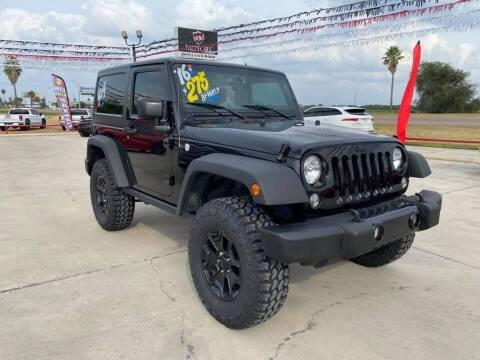 2016 Jeep Wrangler for sale at A & V MOTORS in Hidalgo TX