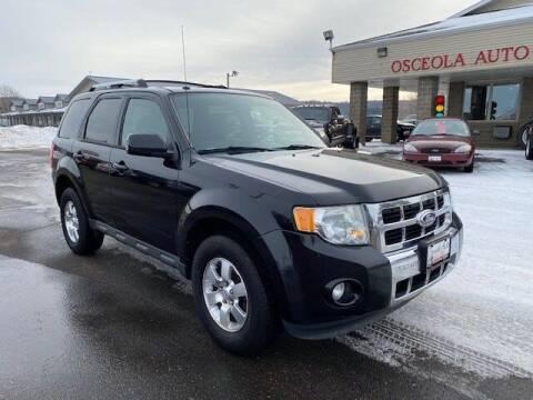 2011 Ford Escape for sale at Osceola Auto Sales and Service in Osceola WI