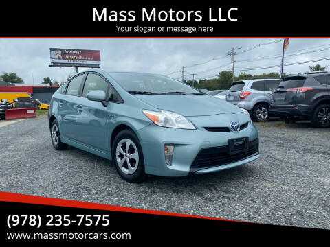 2014 Toyota Prius for sale at Mass Motors LLC in Worcester MA