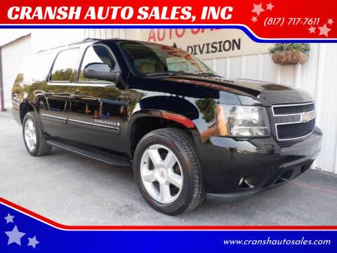 2008 Chevrolet Suburban for sale at CRANSH AUTO SALES, INC in Arlington TX