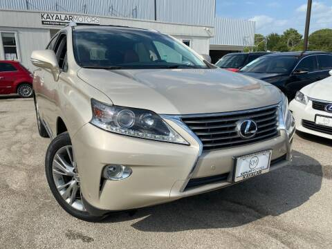 2013 Lexus RX 350 for sale at KAYALAR MOTORS in Houston TX