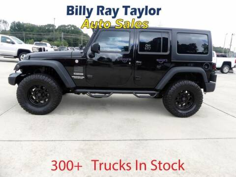 2017 Jeep Wrangler Unlimited for sale at Billy Ray Taylor Auto Sales in Cullman AL