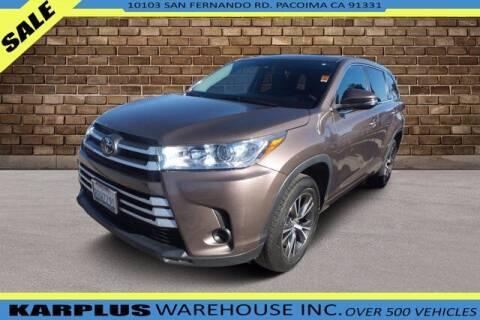 2018 Toyota Highlander for sale at Karplus Warehouse in Pacoima CA
