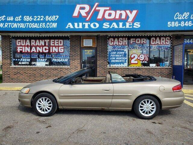 2002 Chrysler Sebring for sale at R Tony Auto Sales in Clinton Township MI