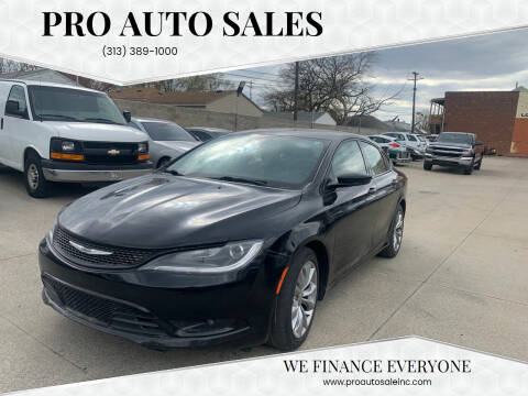 2015 Chrysler 200 for sale at Pro Auto Sales in Lincoln Park MI