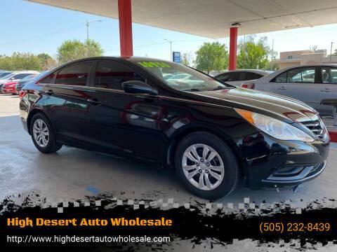 2013 Hyundai Sonata for sale at High Desert Auto Wholesale in Albuquerque NM