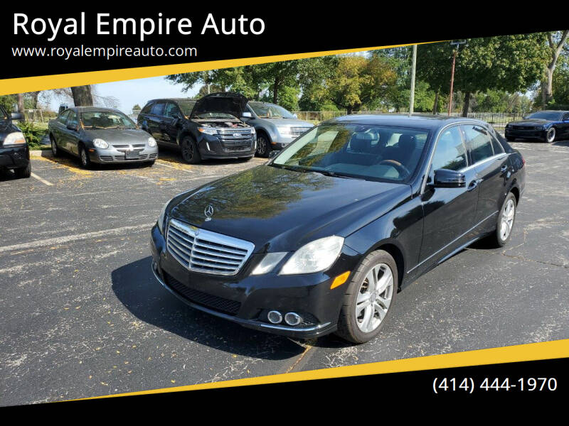 2010 Mercedes-Benz E-Class for sale at Royal Empire Auto in Milwaukee WI