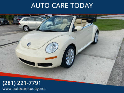 2008 Volkswagen New Beetle Convertible for sale at AUTO CARE TODAY in Spring TX