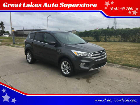 2017 Ford Escape for sale at Great Lakes Auto Superstore in Pontiac MI