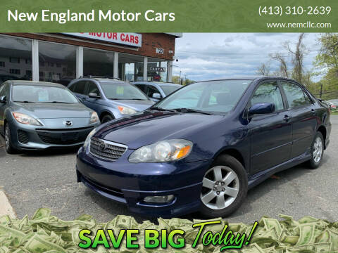 2006 Toyota Corolla for sale at New England Motor Cars in Springfield MA