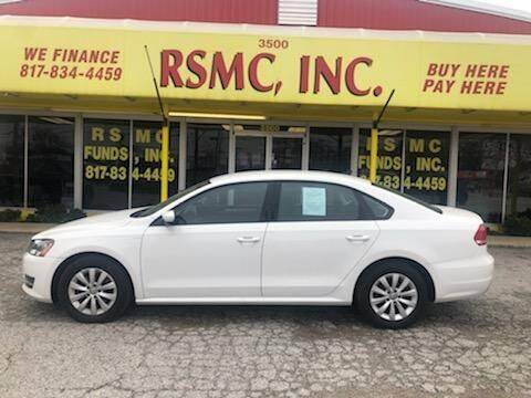 2014 Volkswagen Passat for sale at Ron Self Motor Company in Fort Worth TX