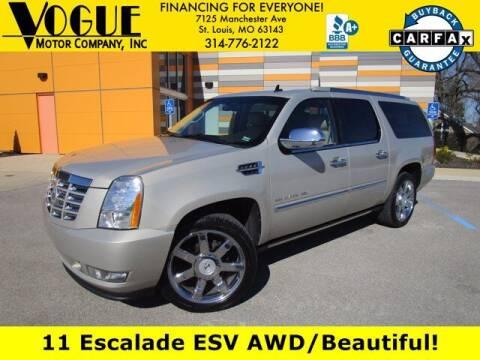 2011 Cadillac Escalade ESV for sale at Vogue Motor Company Inc in Saint Louis MO