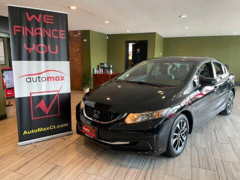 2015 Honda Civic for sale at AutoMax in West Hartford CT