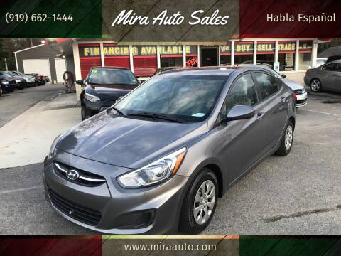 2015 Hyundai Accent for sale at Mira Auto Sales in Raleigh NC