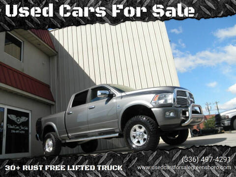 2012 RAM Ram Pickup 2500 for sale at Used Cars For Sale in Kernersville NC