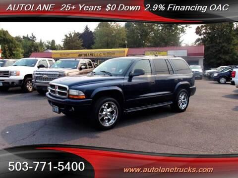 2003 Dodge Durango for sale at Auto Lane in Portland OR