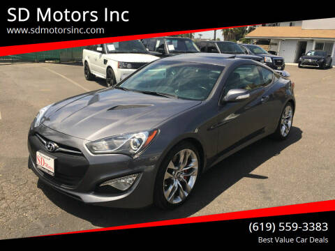 2015 Hyundai Genesis Coupe for sale at SD Motors Inc in La Mesa CA