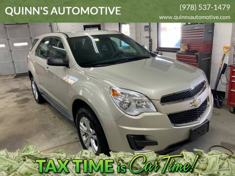 2014 Chevrolet Equinox for sale at QUINN'S AUTOMOTIVE in Leominster MA