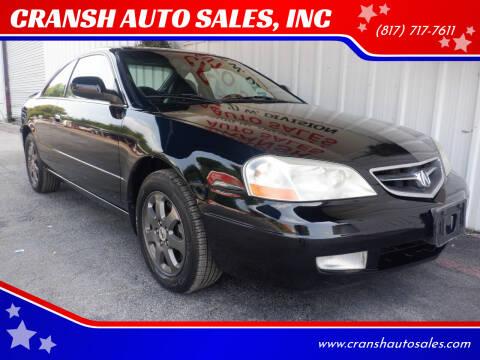 2001 Acura CL for sale at CRANSH AUTO SALES, INC in Arlington TX