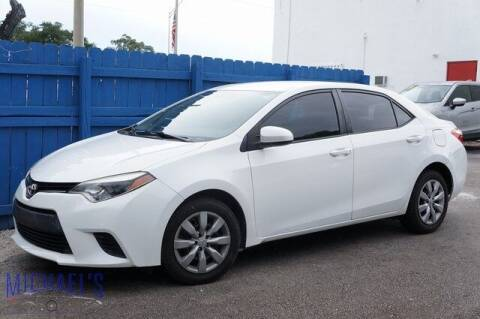 2014 Toyota Corolla for sale at Michael's Auto Sales Corp in Hollywood FL