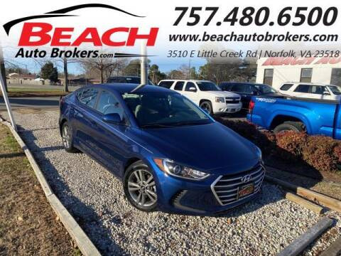 2017 Hyundai Elantra for sale at Beach Auto Brokers in Norfolk VA