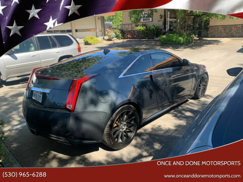 2012 Cadillac CTS for sale at Once and Done Motorsports in Chico CA