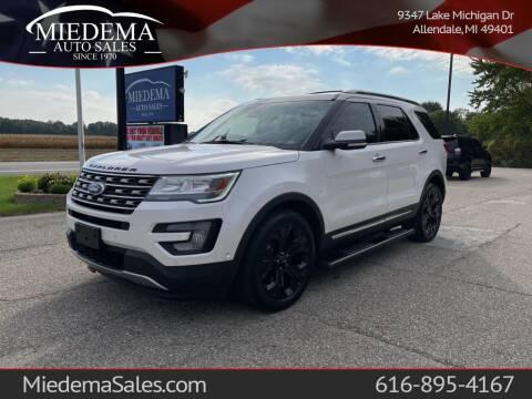 2017 Ford Explorer for sale at Miedema Auto Sales in Allendale MI