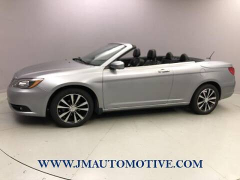 2013 Chrysler 200 Convertible for sale at J & M Automotive in Naugatuck CT