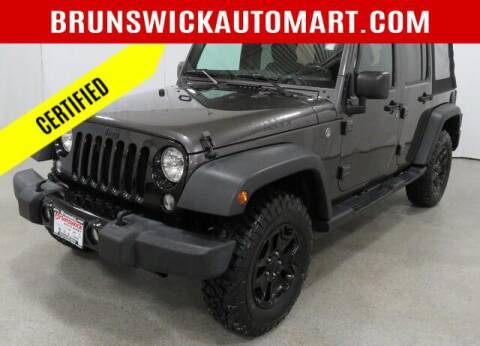 2018 Jeep Wrangler JK Unlimited for sale at Brunswick Auto Mart in Brunswick OH
