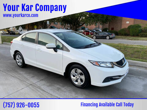 2015 Honda Civic for sale at Your Kar Company in Norfolk VA