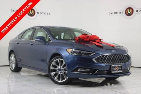 2018 Ford Fusion for sale at INDY'S UNLIMITED MOTORS - UNLIMITED MOTORS in Westfield IN