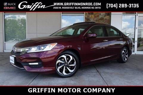 2016 Honda Accord for sale at Griffin Buick GMC in Monroe NC
