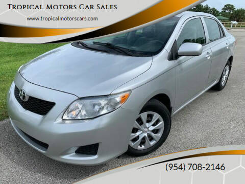 2009 Toyota Corolla for sale at Tropical Motors Car Sales in Deerfield Beach FL