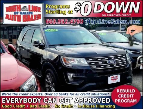 2016 Ford Explorer for sale at High Line Auto Sales of Salem in Salem NH