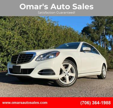 2016 Mercedes-Benz E-Class for sale at Omar's Auto Sales in Martinez GA