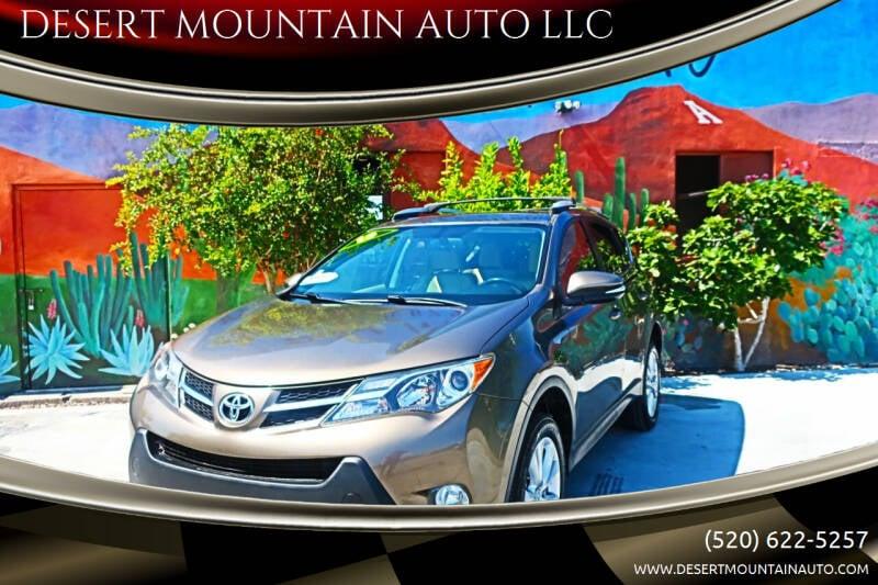2013 Toyota RAV4 for sale at DESERT MOUNTAIN AUTO LLC in Tucson AZ