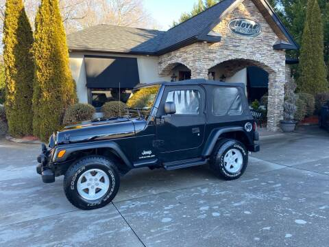 2004 Jeep Wrangler for sale at Hoyle Auto Sales in Taylorsville NC