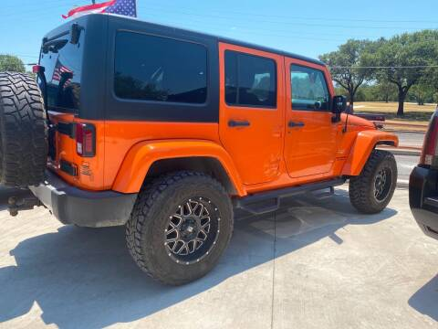 2013 Jeep Wrangler Unlimited for sale at Speedway Motors TX in Fort Worth TX