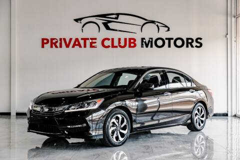 2017 Honda Accord for sale at Private Club Motors in Houston TX