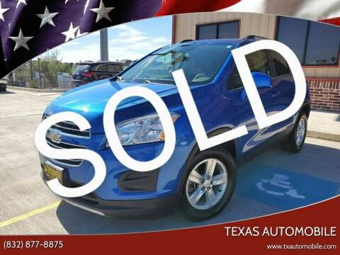 2016 Chevrolet Trax for sale at TEXAS AUTOMOBILE in Houston TX