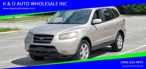 2007 Hyundai Santa Fe for sale at K & O AUTO WHOLESALE INC in Jacksonville FL