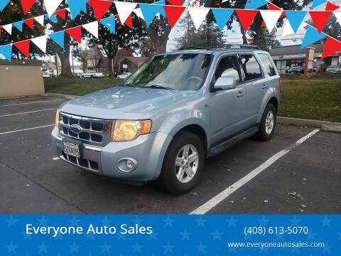 2008 Ford Escape Hybrid for sale at Everyone Auto Sales in Santa Clara CA